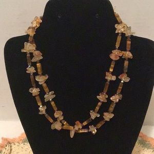 Jewelry - Sterling Silver Necklace with Tigers Eye & Citrine